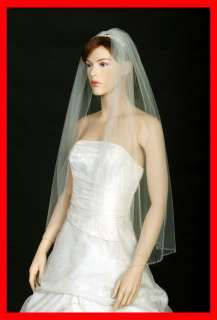 1T WHITE/IVORY WEDDING BRIDAL VEIL BEAD/SEQUIN/SEED s55