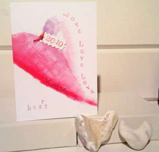 special Handmade Love Heart card for your partner, be it your