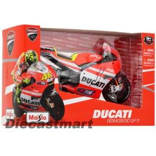 10 DUCATI DESMOSEDICI MOTOGP11 VALENTINO ROSSI DIECAST MOTORCYCLE #46