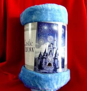 Walt Disney World Magic Kingdom Holiday Cinderella Castle Fleece Throw