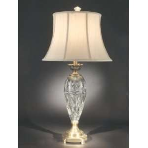 Dale Tiffany San Remo Table Lamp with Antique Brass Mahogany Finish