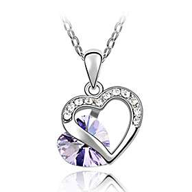US$ 19.99   Shining Crystal And Platinum Plated Alloy Love Hart Shaped