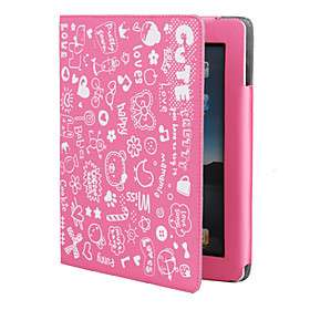 Cute Girl Protective PU Leather Case Stand for Apple iPad 2 #00230797