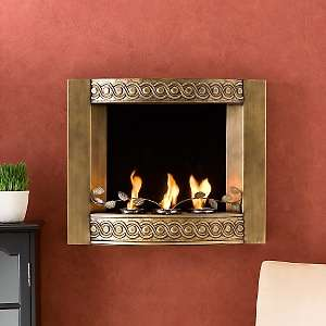 Antique Gold Wall Mount Fireplace