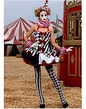 Adult Sexy Deluxe Harlequin Clown Costume