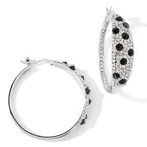 Justine Simmons Jewelry Pavé Crystal Spike Hoop Earrings