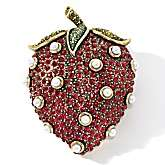 Heidi Daus Crystal Accented Strawberry Design Pin