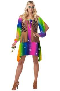 Tie Die Hippie Chick Adult Costume for Halloween   Pure Costumes