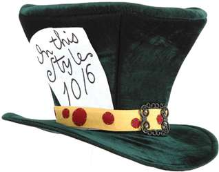Extra large velvet top hat with printed In this Style 10/6 patch