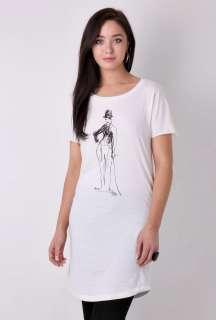 Kate Moss as Charlie Chaplin T Shirt Dress by Burfitt   Neutral   Buy