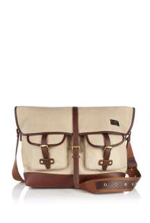 Paul Smith Accessories  Ecru Canvas Messenger Bag by Paul Smith