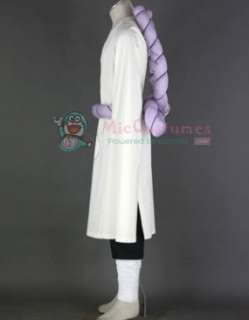 Naruto Kimimaro Kaguya White Cosplay Costume with Black Pants  Naruto