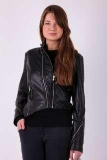 Burton Leather Jacket by By Malene Birger   Black   Buy Jackets Online
