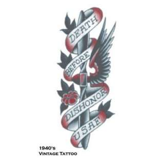 Death Before Dishonor Vintage Tattoo   Above All   Make em believe