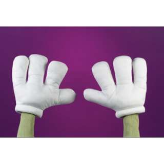 White Cartoon Character Gloves   Funny Costume Accessories   15FW8066