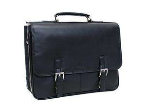 Kenneth Cole Reaction Black Nappa Leather Computer Portfolio Model