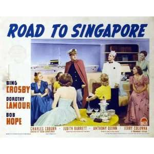 to Singapore Movie Poster (11 x 14 Inches   28cm x 36cm) (1940) Style