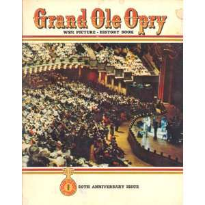 Grand Ole Opry WSM Picture History Book 50th Anniversary