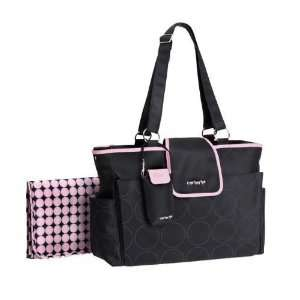 Carters Out and About Diaper Bag Pink/Black Baby