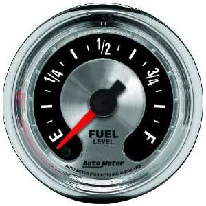 Auto Meter 1209 American Muscle 2 1/16 Fuel Level Gauge Automotive