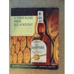 Old Thompson whiskey, Vintage 50s full page print ad.(big