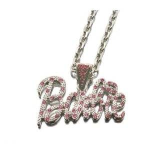 NICKI MINAJ BARBIE Pink Friday Pendant Chain Silver Multi Jewelry