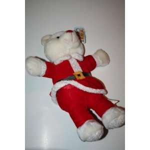 White Santa Teddy Bear Plush in Red Toys & Games