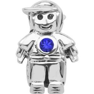 Persona Sterling Silver September Birthstone Charm Boy