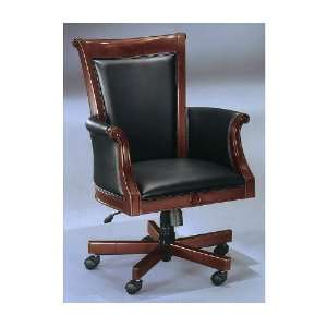 Black leather DMi Del Mar Executive High Back Chair