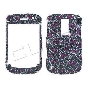 Blackberry BOLD 9000   Red Hearts on Black   Full Diamond/Rhinestone