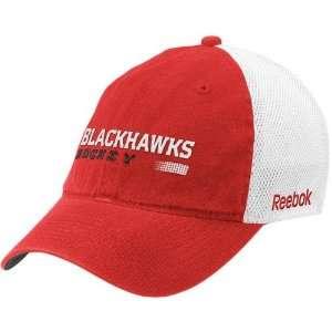 Reebok Chicago Blackhawks Red Official Team Mesh Back Flex Fit Hat