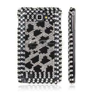 Ecell   BLACK LEOPARD PROTECTIVE BLING CASE COVER FOR