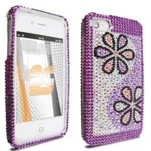 Purple Daisy Diamond Crystal Bling Protector Case for