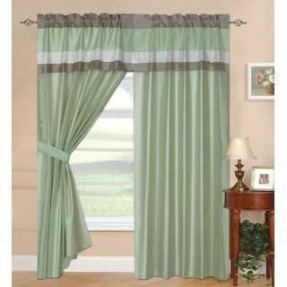 Sage Green Sheer Window Curtains/drape/panels/treatment 60w X 84l