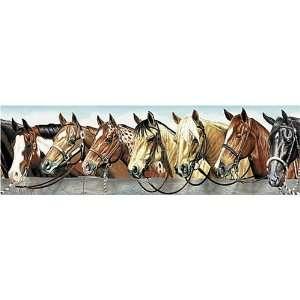 rolls HORSES western WALLPAPER BORDER wall paper