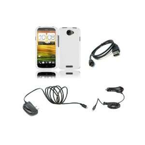 HTC One S (T Mobile) Premium Combo Pack   White Hard Shield Case Cover