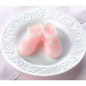 Pink Baby Bootie Candles Baby Shower Favor (A Pair)