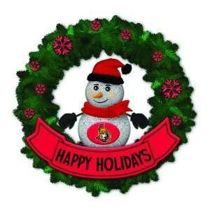 Senators Lighted Snowman Artificial Christmas Wreath