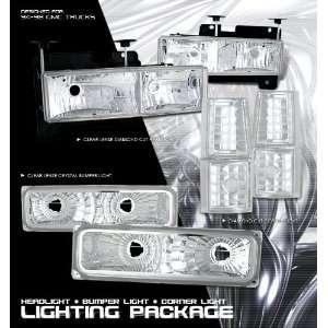 1998 Gmc Gmc Pu Combo Chrome 8Pc W/Clear Corner Headlight Performance