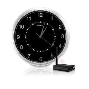Wi Fi Interference Free Wireless Wall Clock Hidden Camera kit (Black