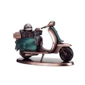 Blue Scooter   Collectible Figurine Statue Sculpture Figure Motorcycle