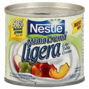 Nestle Media Crema Lite Table Cream, 7.6 Ounce Containers (Pack of 24)