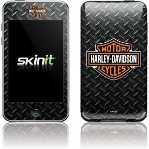 Skinit Harley Davidson Standard Logo on Diamond Plate
