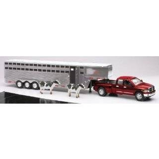 Dodge RAM Pickup Truck with Fifth Wheel Trailer and Cows Diecast and