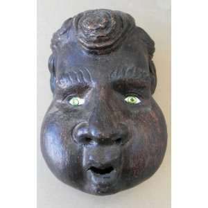 Decorative Hand Carved Wooden Face Mask   Wall Hanging   9