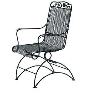 Woodard 5W0066 92 Westport Mesh Wrought Iron High Back