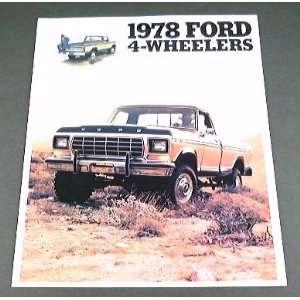 1978 78 FORD 4x4 Pickup Truck BROCHURE F150 F250 Bronco