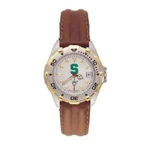 Spartans All Star Ladies Black Leather Strap Watch
