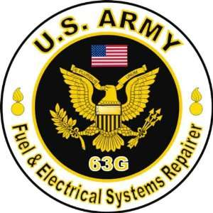 United States Army MOS 63G Fuel & Electrical Systems Repairer Decal