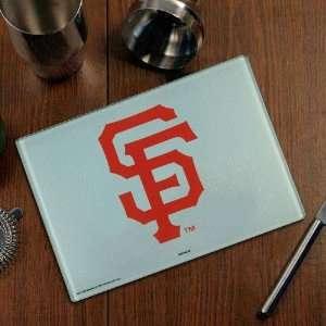 San Francisco Giants Logo Glass Cutting Board  Sports